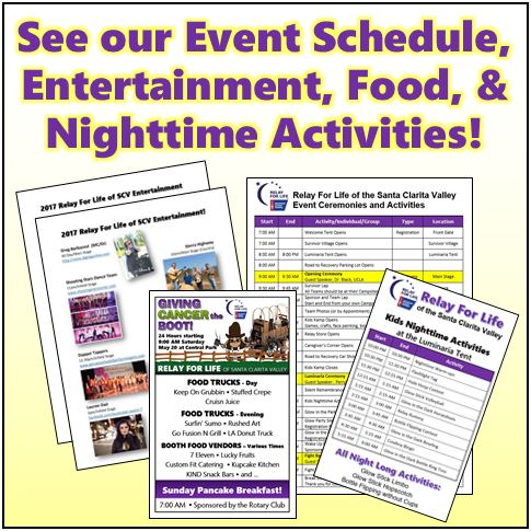 EA -Event Schedule-Food-Entertainment