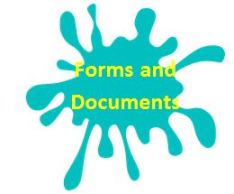 Blue Paint Splot Forms and Documents