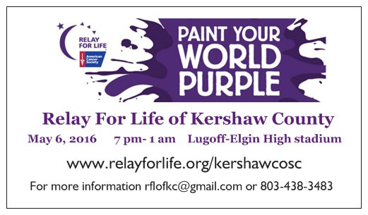 Relay for life of kershaw county for Relay for life flyer template