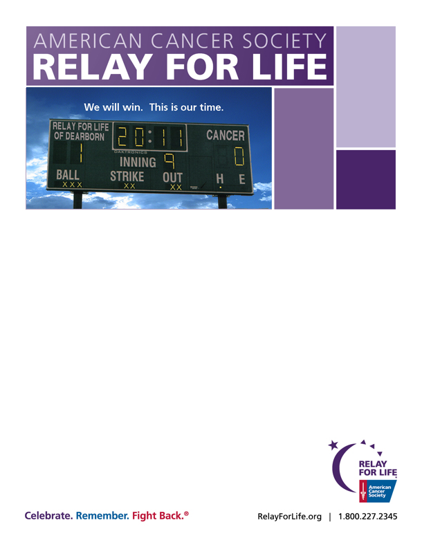 Antagonist placeholder for Relay for life flyer template