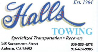 Halls Business Card