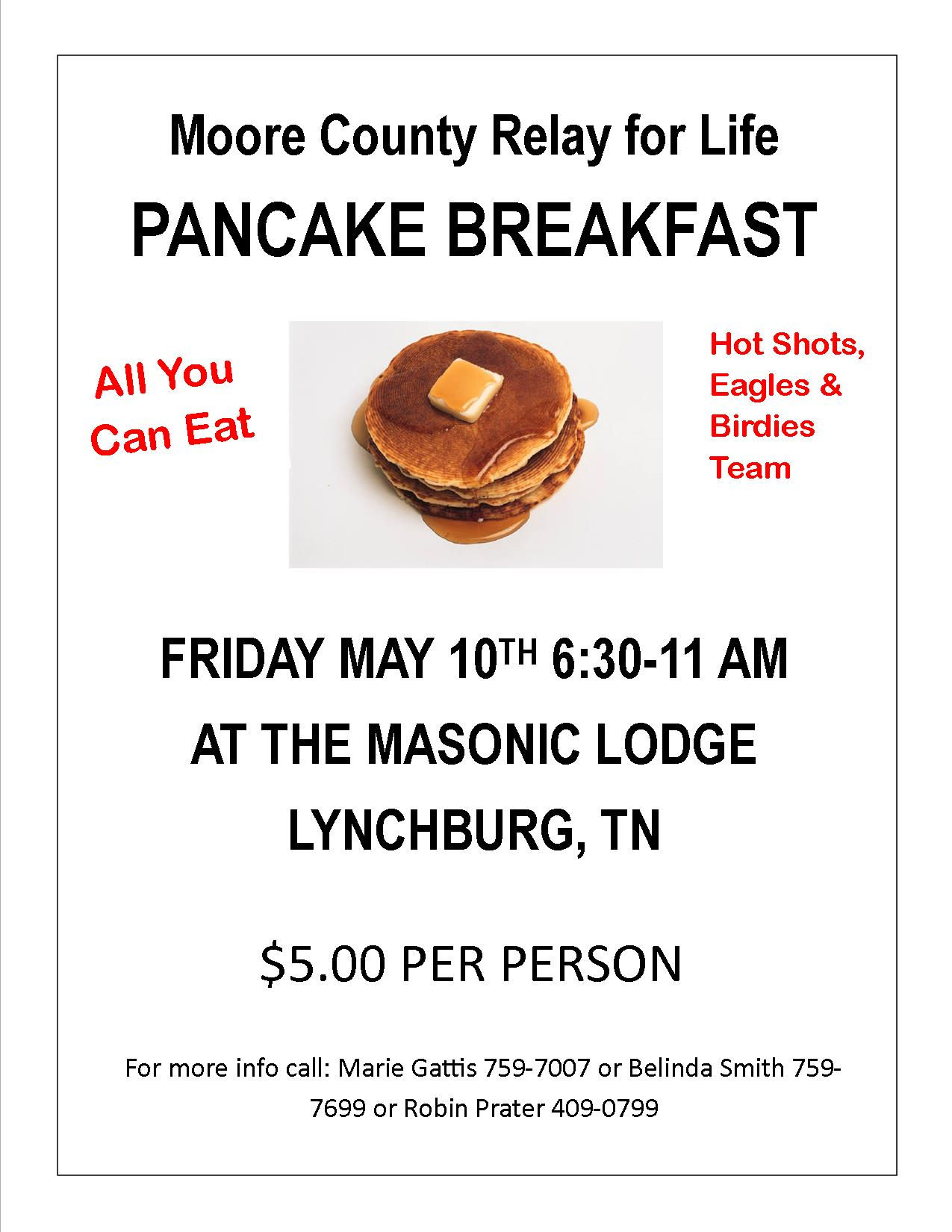 Moore County Pancake Flyer
