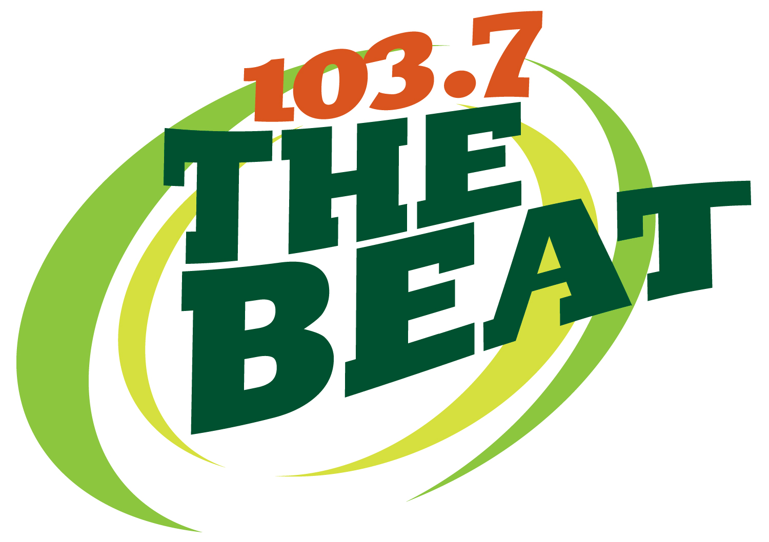 The logo for 103.7 the beat
