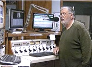 Kevin at WSDR studio during one of his shows