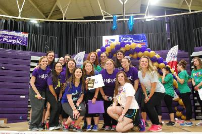 A few sisters at the Relay for Life Event last year! We were the #1 Fundraising Team last year!